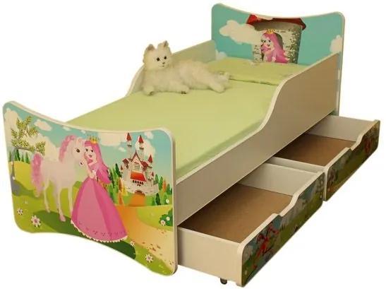 MAXMAX Detská posteľ so zásuvkou 180x80 cm - PRINCEZNA 180x80 pre dievča ÁNO