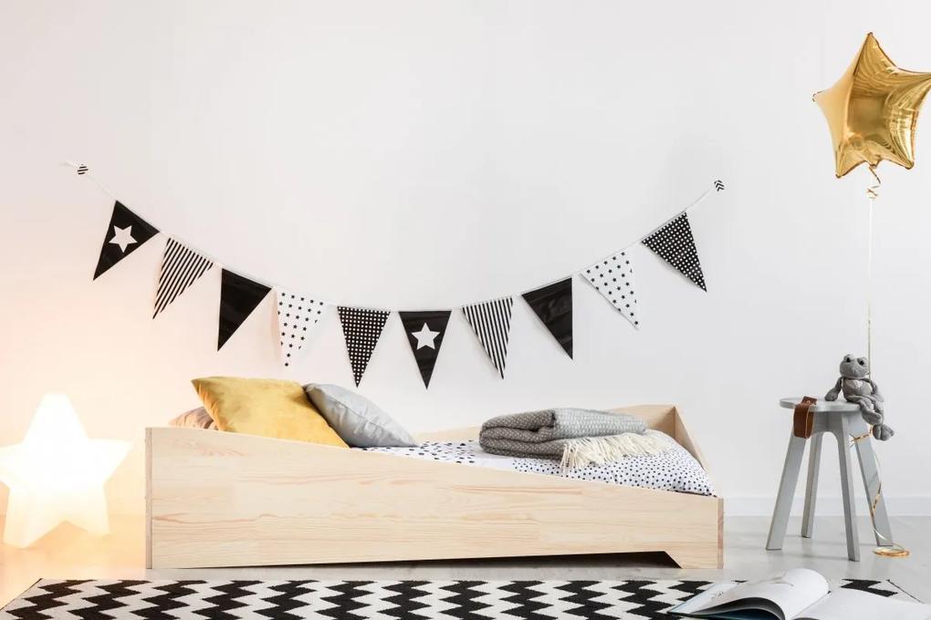 MAXMAX Detská posteľ z masívu BOX model 7 - 140x80 cm 140x80 pre dievča|pre chlapca|pre všetkých NIE