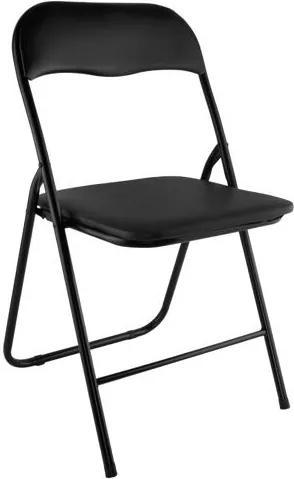 Malatec Skladacia stolička, čierna, 7890