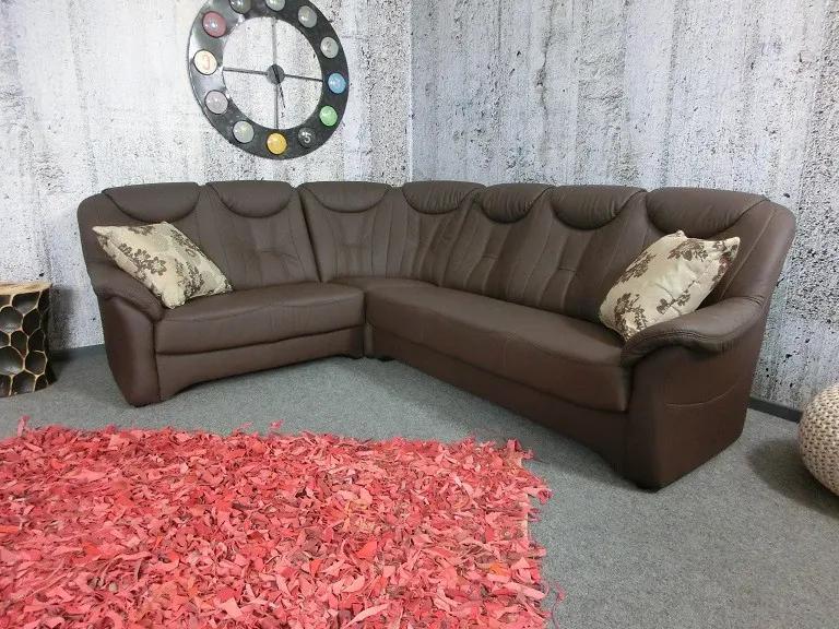 (2450) SANTE rohová kožená sedačka hnedá