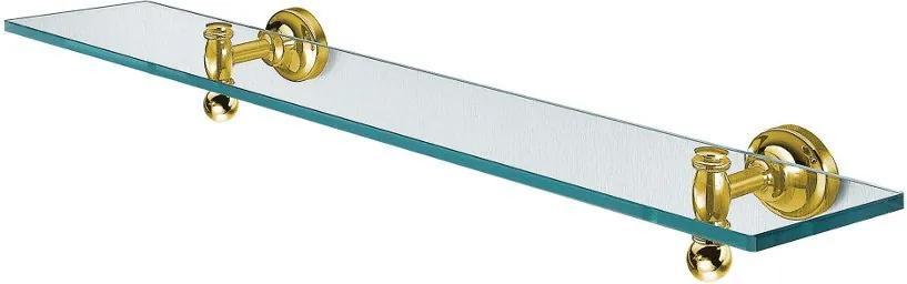 Perla PE0185 sklenená polica, zlato