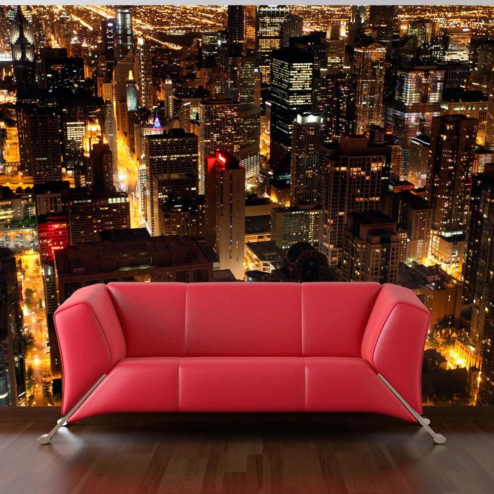 Fototapeta - City by night - Chicago, USA 450x270
