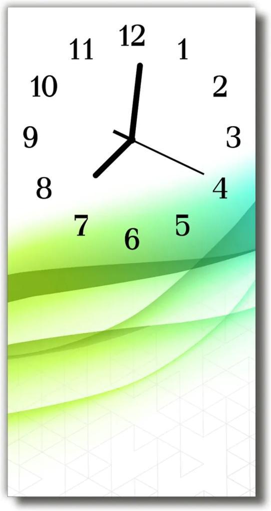 Skleněné hodiny vertikální Umělecká grafika, barevné abstrakce