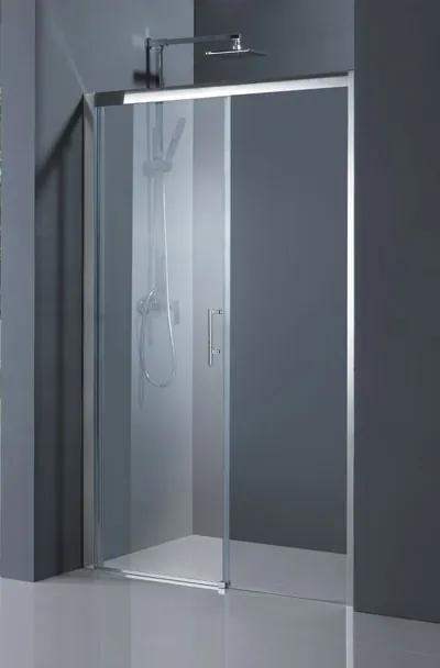 Sprchové dveře HOPA ESTRELA - 140 cm, 195 cm, Pravé (DX), Hliník chrom, Čiré bezpečnostní sklo - 6 mm (BCESTR14CCP)