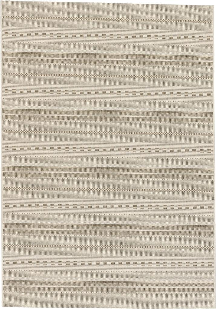 Astra - Golze koberce Kusový koberec Andria 162006 Stripes Champagner - 60x110 cm