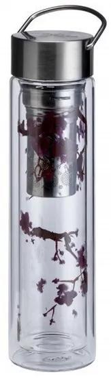 Skleněná termoska s filtrem Cherry