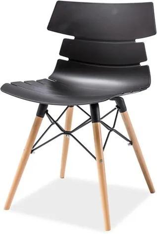 Najlacnejsinabytok FERRO jedálenská stolička, buk/čierna