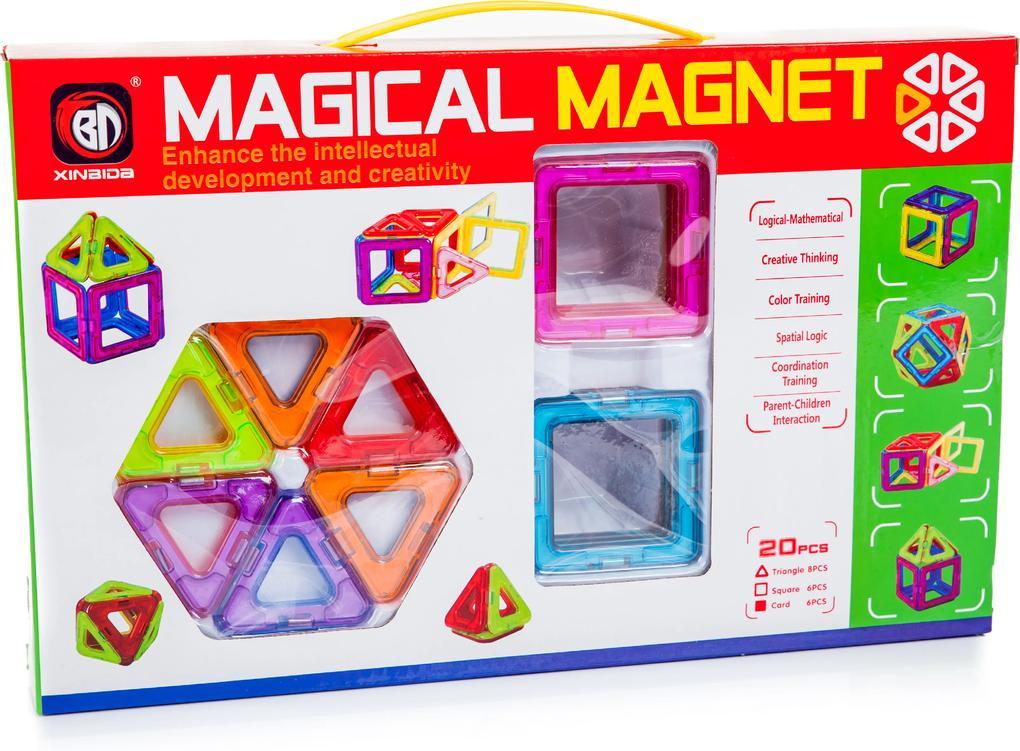 KIK Magnetická stavebnica Magical Magnet 20 dielov, KX9679