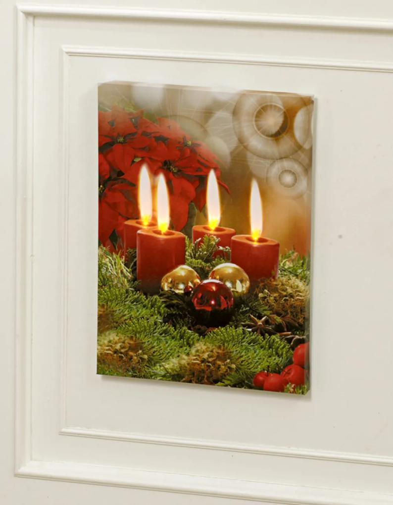Magnet 3Pagen LED obraz Advent