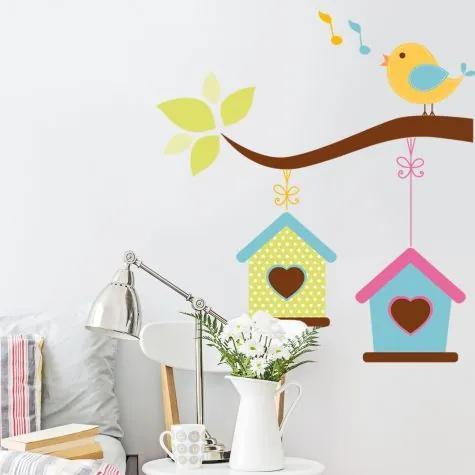 Samolepky na stenu Vtáčik Speváčik