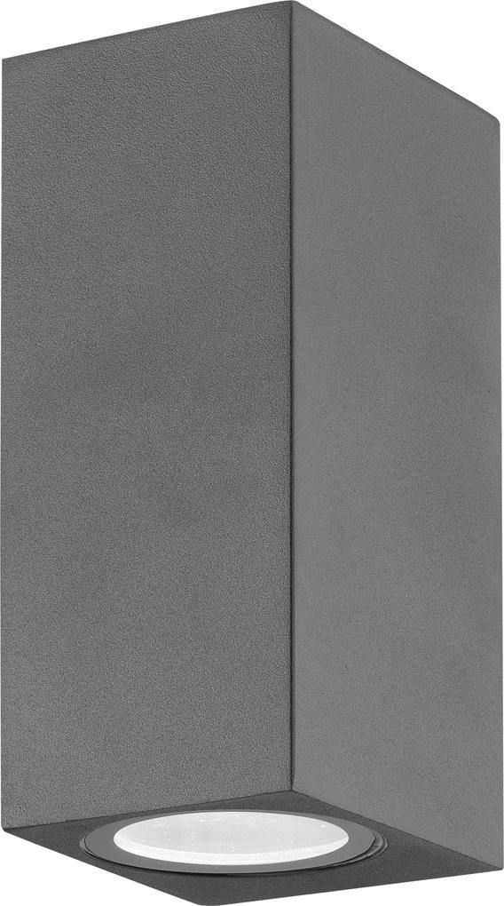 Nova Luce Svietidlo NERO S WALL GREY 2 nástenné, IP 54, GU10 710042
