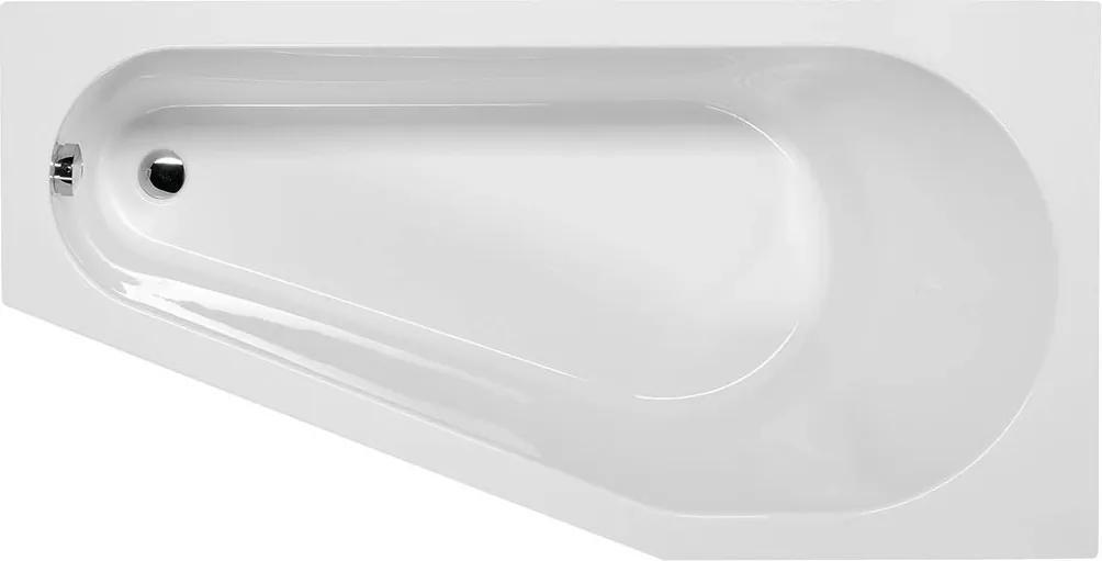 POLYSAN - TIGRA R asymetrická vana 150x75x46cm, bílá (72933)