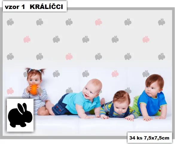 MAXMAX Samolepky DECOR COLOR vzor 1 - králici