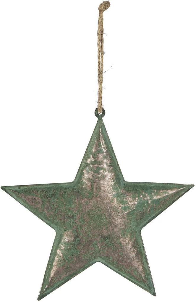 IB LAURSEN Kovová závesná hviezda Army Green 21 cm