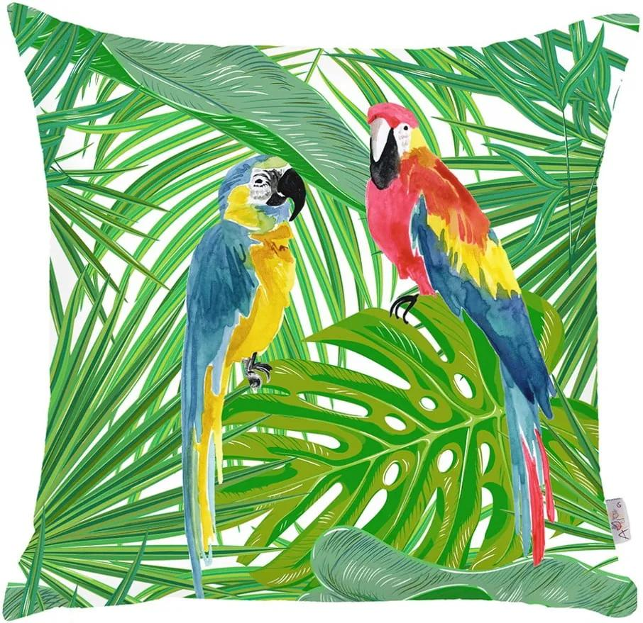 Obliečka na vankúš Apolena Jungle Parrot, 43 × 43 cm
