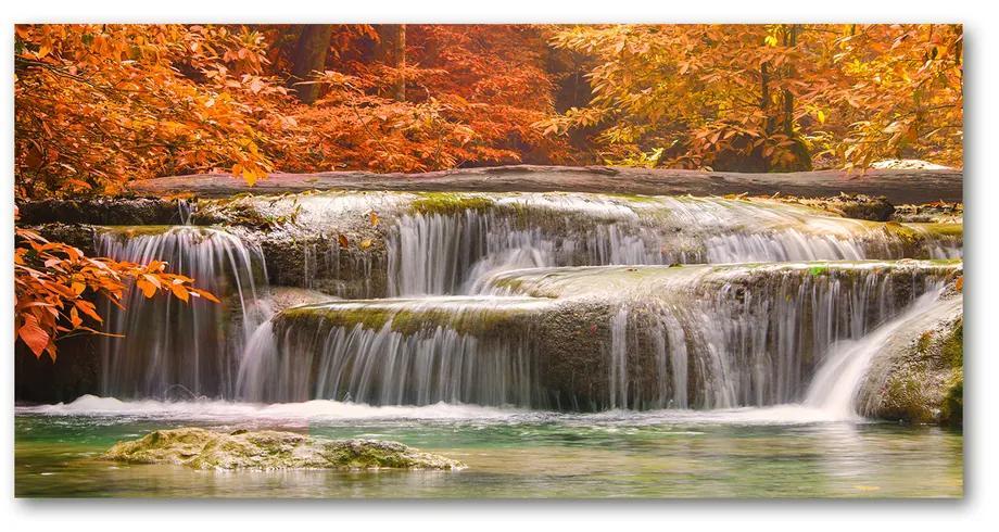 Foto obraz akrylový Vodopád jeseň pl-oa-140x70-f-72393918