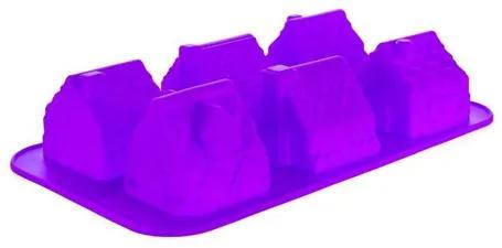 BANQUET Silikónová forma 6 ks domčeky malé 29,5x17,5x6cm Culinaria violet 3120165