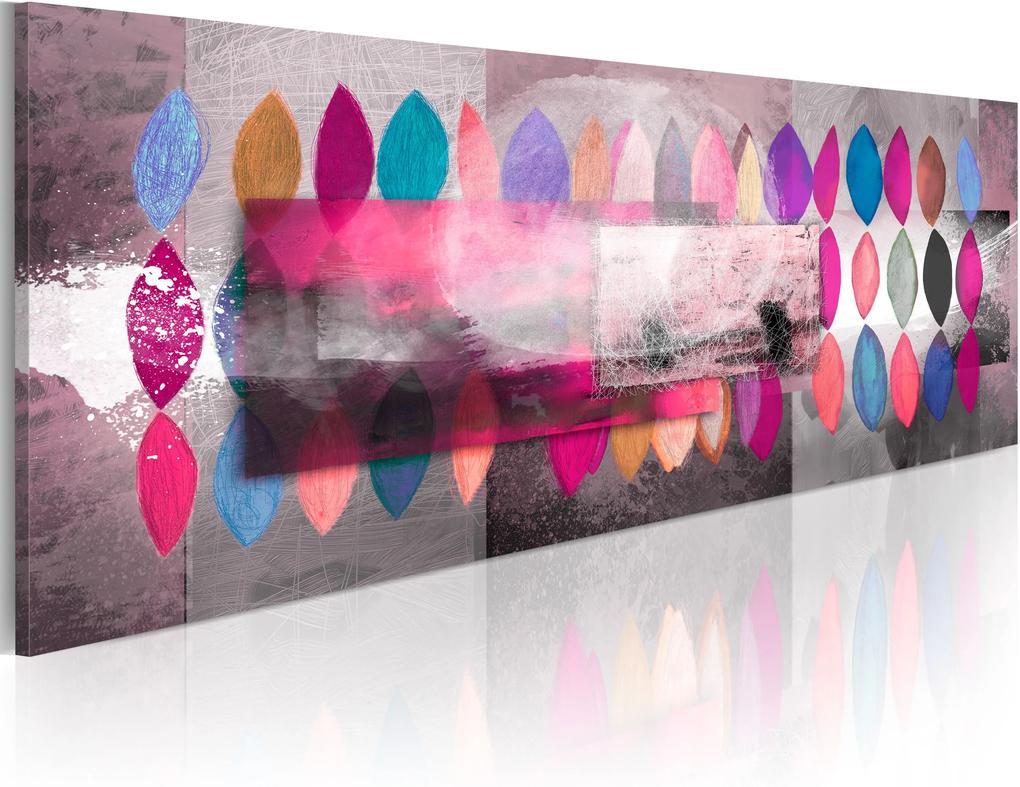 Ručne maľovaný obraz - Color trends 120x40