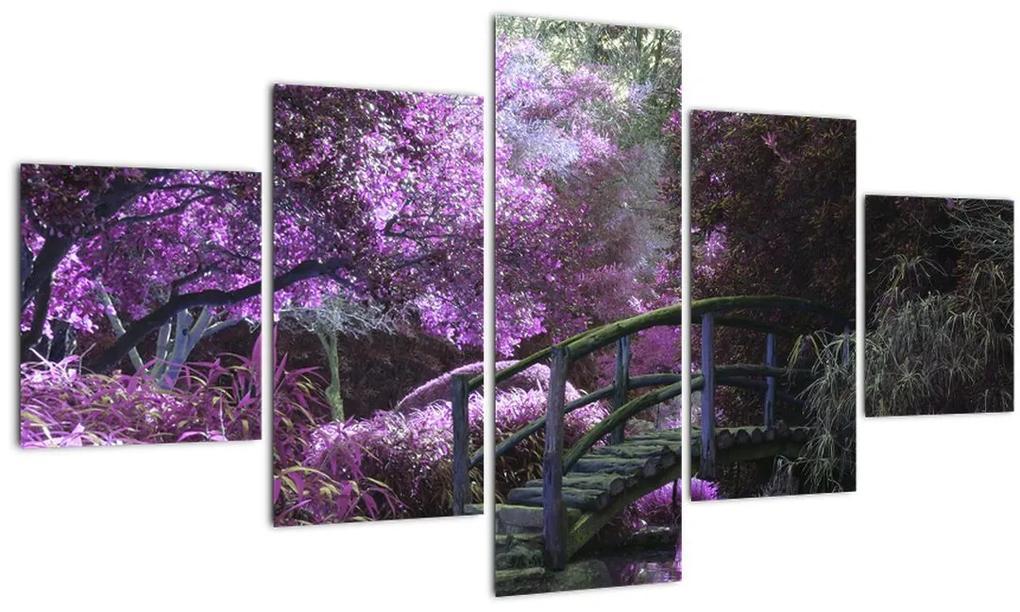 Obraz fialové záhrady (125x70 cm), 40 ďalších rozmerov