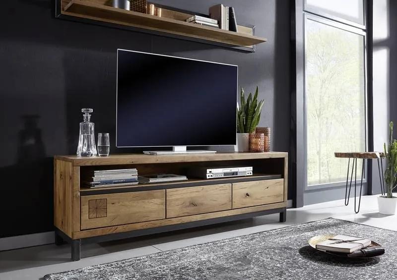Masiv24 - TIROL TV stolík 170x56, tmavohnedá, dub