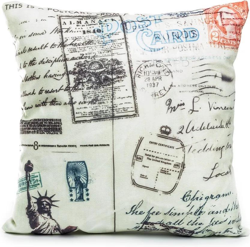 Jahu Obliečka na vankúšik Postcard NY, 45 x 45 cm