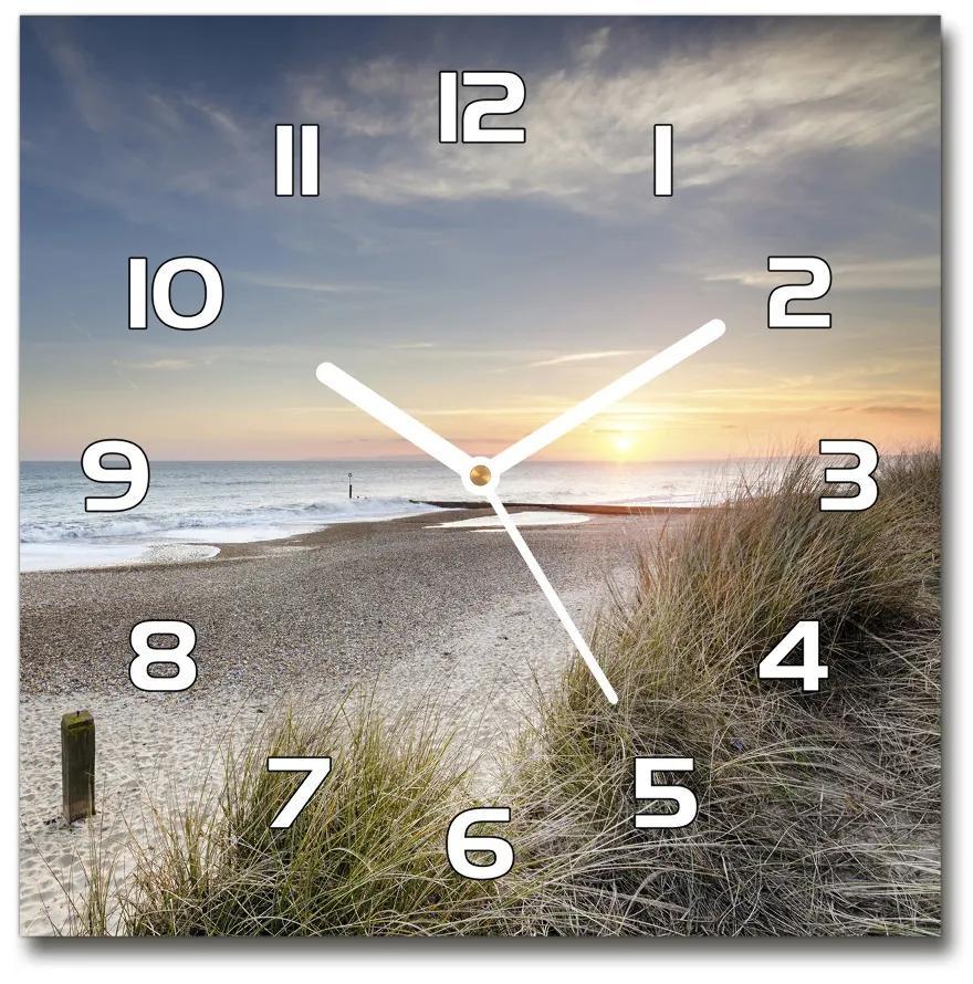 Sklenené hodiny Západ slnka a duny pl_zsk_30x30_f_60352873