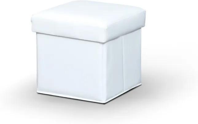 TEMPO KONDELA Wiki taburetka s úložným priestorom biela