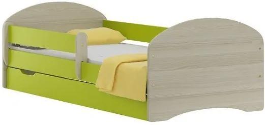 MAXMAX Detská posteľ so zásuvkou APPLE 180x90 cm 180x90 pre dievča|pre chlapca|pre všetkých ÁNO zelená|multicolor