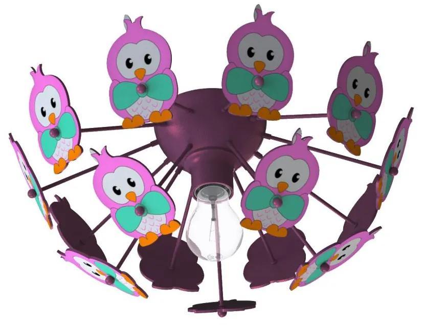 Eglo Eglo 95637 - Detské stropné svietidlo VIKI 2 1xE27/60W/230V ružová EG95637