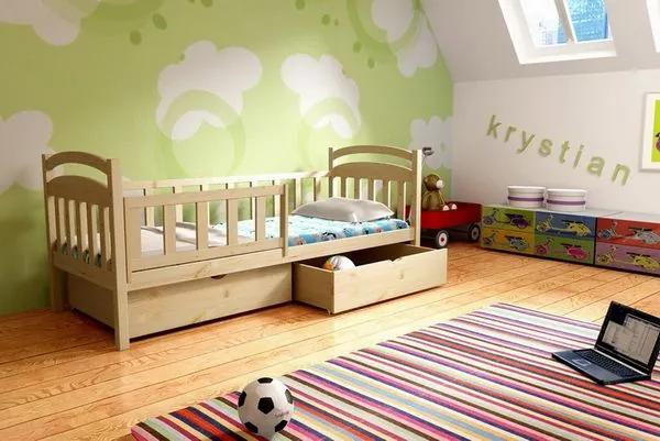MAXMAX Detská posteľ z masívu 200x90cm so zásuvkou - DP014 200x90 ÁNO