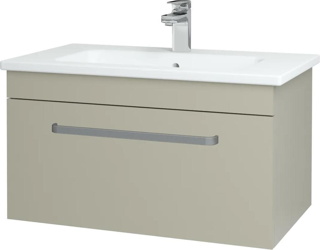 Dřevojas - Koupelnová skříň ASTON SZZ 80 - L04 Béžová vysoký lesk / Úchytka T01 / L04 Béžová vysoký lesk (109011A)