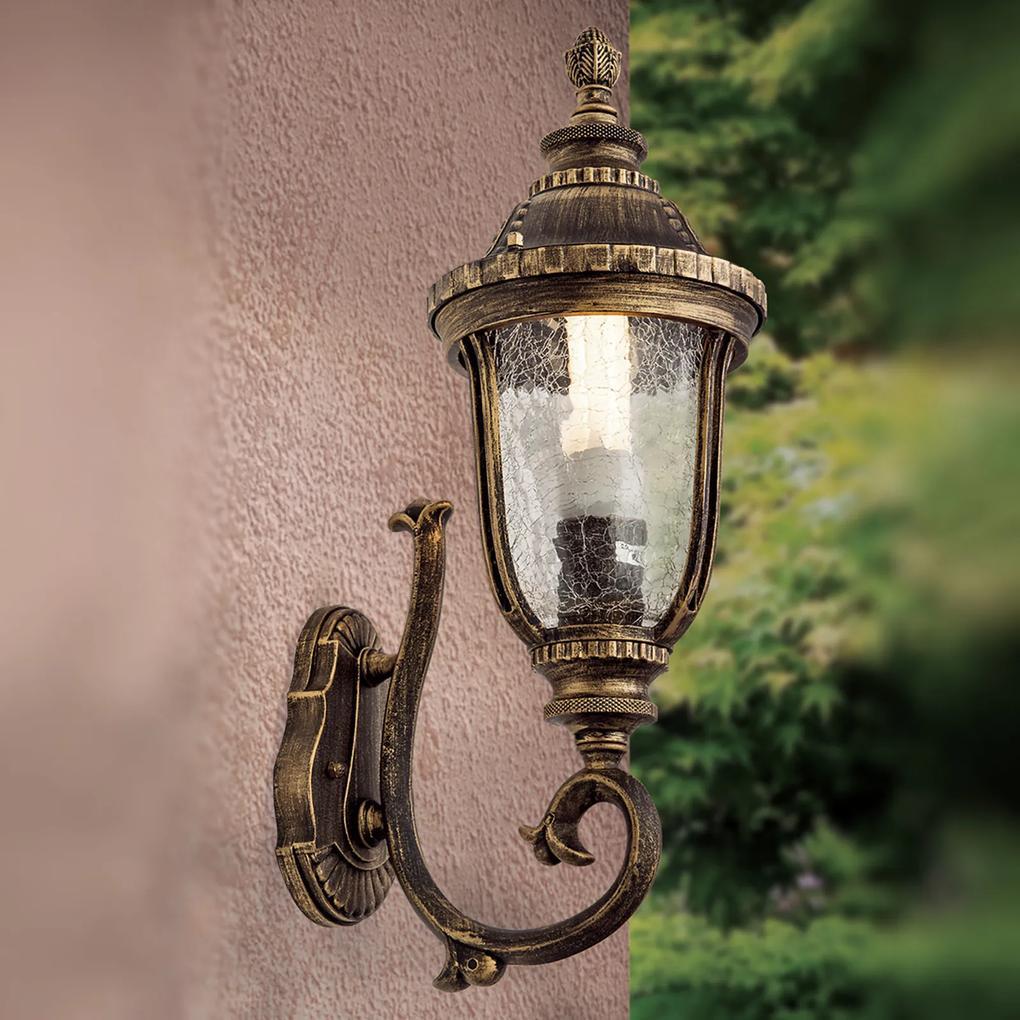 Exteriérové nástenné svietidlo Paula, stojacie