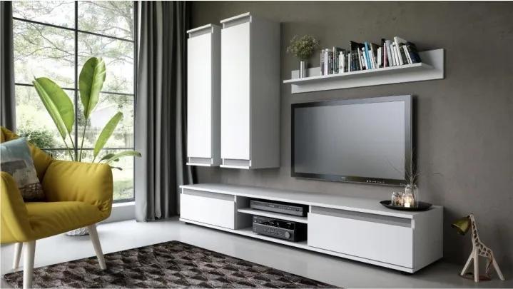 Obývacia stena, biela, REGIA