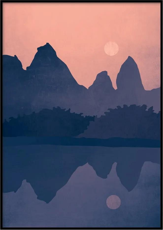 Nástenný plagát v ráme LANDSCAPE, 40 x 50 cm