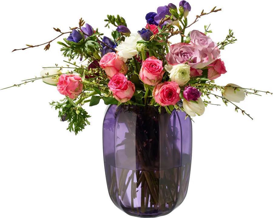Váza/lampa na čajovú sviečku, svetlofialová Cl. D.