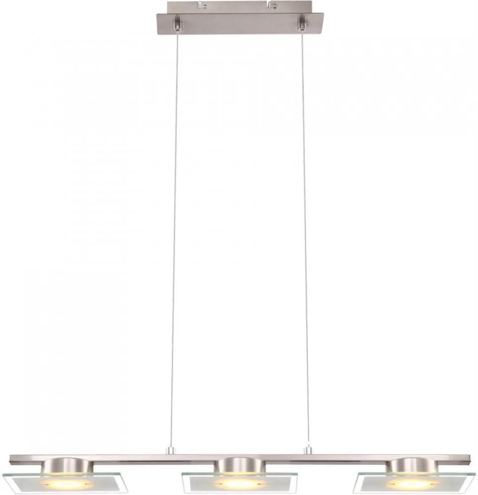 Globo TASHA I TASHA I 68016-3 LED Závesné Lampy chróm matný nikel 3 x max. 5W 120 x 10 x 60 cm