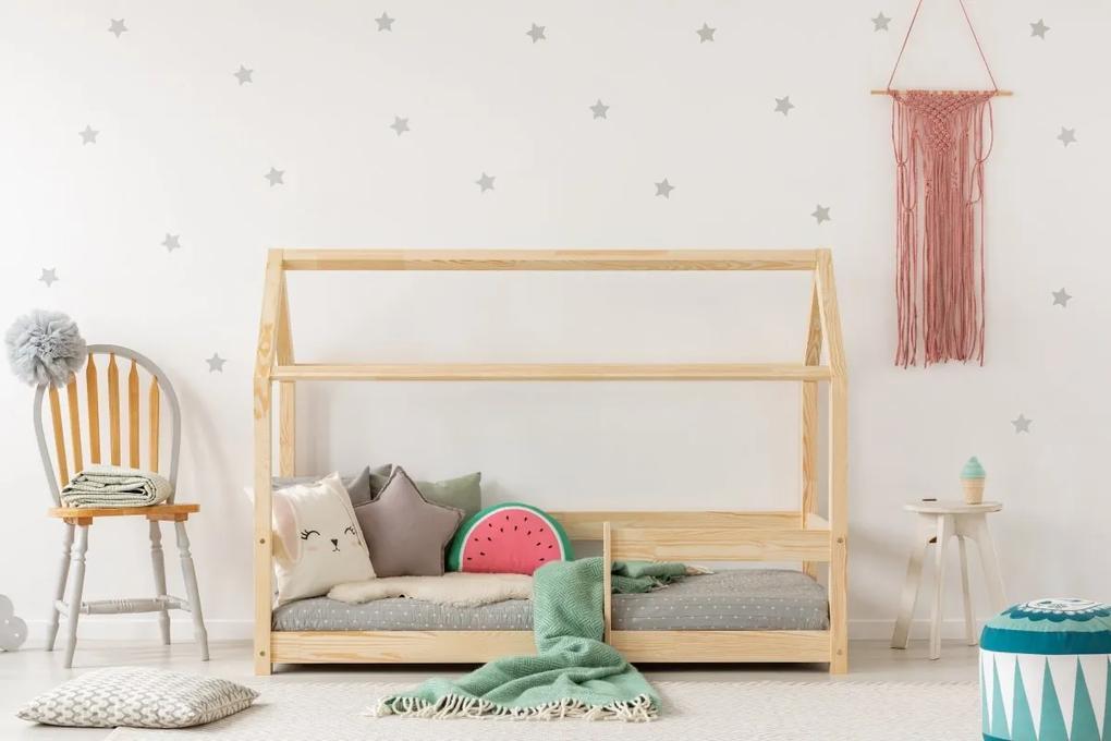 MAXMAX Detská posteľ z masívu DOMČEK - TYP B 200x90 cm 200x90 pre dievča pre chlapca pre všetkých NIE