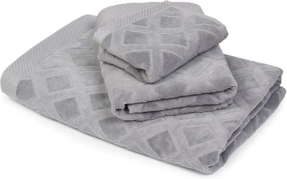 Veľký uterák Charles sivý seda