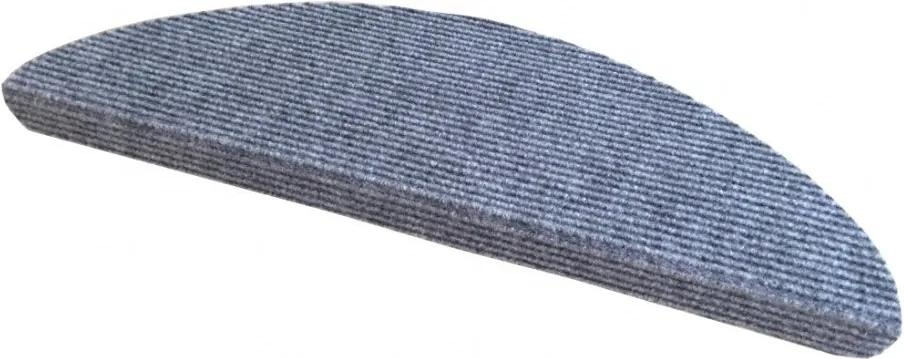 Vopi koberce Nášlapy na schody šedý Quick step půlkruh - 24x65 půlkruh (rozměr včetně ohybu)