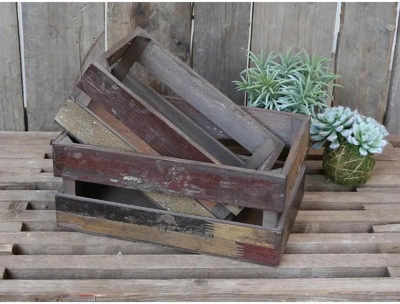 Chic Antique Drevená debnička Old French Apple Box Menšia