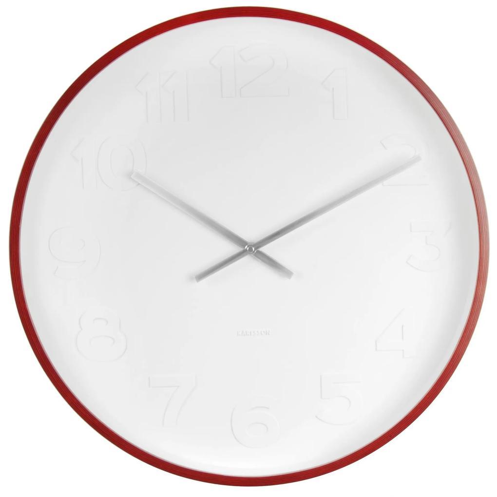 Karlsson Nástenné hodiny Mr. White 51cm