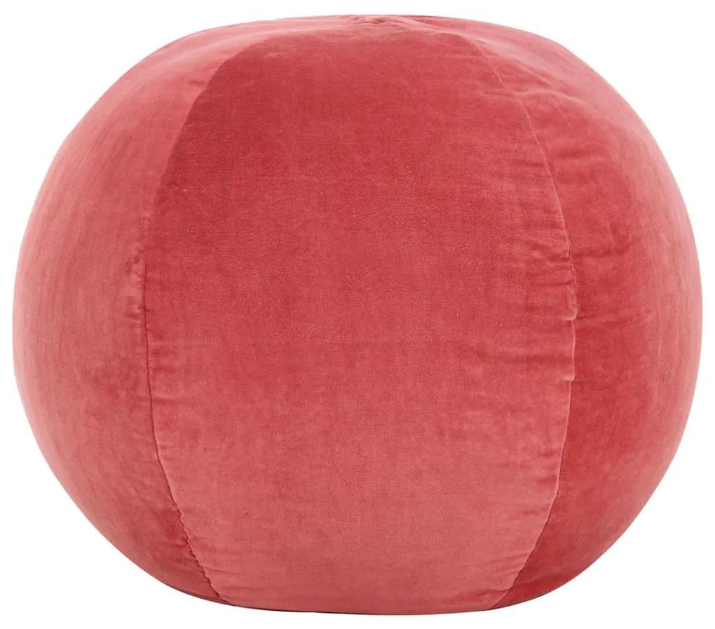 vidaXL Taburetka bavlnená zamatová 50x35 cm ružová