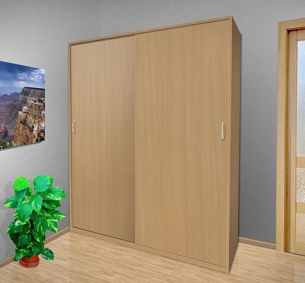 Nabytekmorava Šatníková skriňa s posuvnými dverami Alfa 26 farba lamina: breza 1715