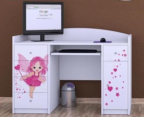 MAXMAX Detský písací stôl VÍLA - TYP 1 pre dievča