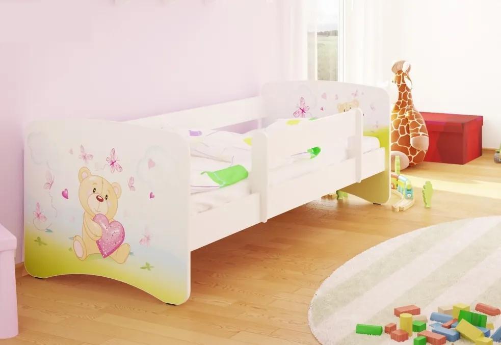 MAXMAX Detská posteľ zamilovaní TEDDY funny 160x80 cm - bez šuplíku 160x80 pre dievča NIE