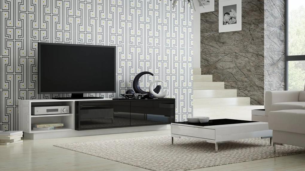 CAMA MEBLE Televízny stolík SIGMA 2 Farba: čierna/biela