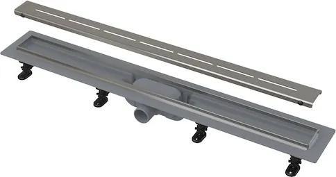 Sprchový žľab Alcaplast 95 cm plast šedá mat lines APZ18-950M