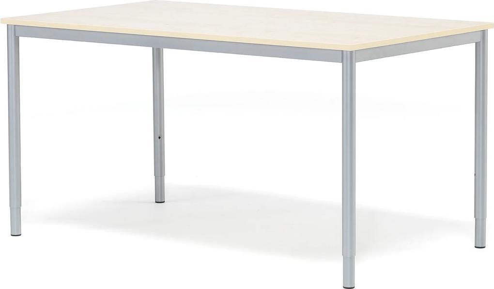 Kancelársky pracovný stôl Adeptus, 1400x800 mm, brezový laminát/šedá