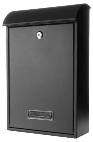 Poštová schránka 65.259 čierna matná, 400 x 275 x hĺbka 135 mm
