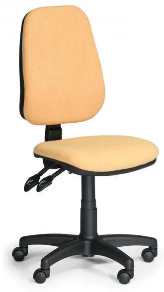 Pracovná stolička Alex bez podrúčok žltá